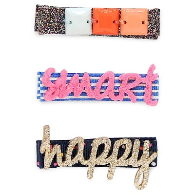 Girls' 3-Pack Smart Girl Hair Clips Cat & Jack™ - Multicolor
