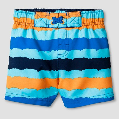 Baby Boys' Swim Trunks Baby Cat & Jack™ - Blue/Orange 18M