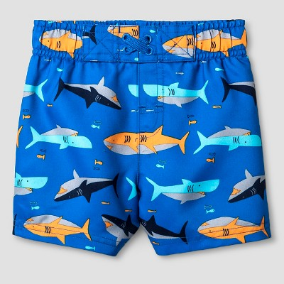 Baby Boys' Swim Trunks Baby Cat & Jack™ - Blue Sharks 9M