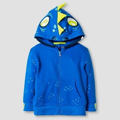 Baby Boys' Dino Costume Hoodie Baby Cat & Jack™ - Blue 12 M