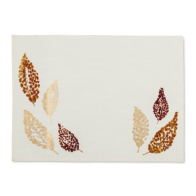 Fall Leaves Placemat Tan - Threshold™