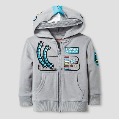 Baby Boys' Astronaut Costume Hoodie Baby Cat & Jack™ - Gray 18 M