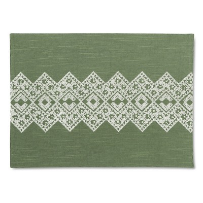 Embroidery Placemat Green - Threshold™