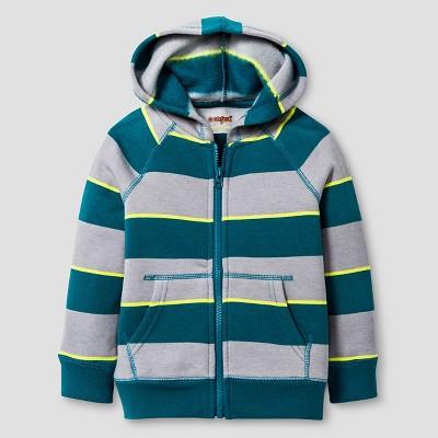 Toddler Boys' Hooded Sweatshirt Cat & Jack™ - Teal & Grey 5T