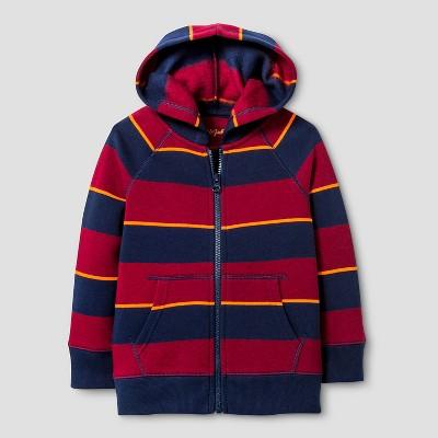 Toddler Boys' Hooded Sweatshirt Cat & Jack™ - Blue & Red 2T
