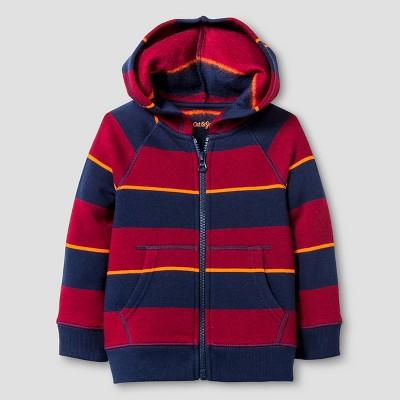 Baby Boys' Hooded Sweatshirt Baby Cat & Jack™ - Blue & Red 12 M