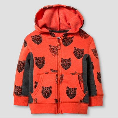 Baby Boys' Hooded Sweatshirt Baby Cat & Jack™ - Orange 12 M