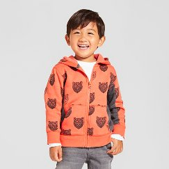 Toddler Boys' Hooded Sweatshirt Cat & Jack™ - Orange