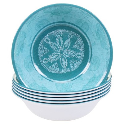 Certified International Aqua Treasures Melamine All Purpose Bowl - Set of 6