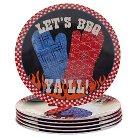 Certified International BBQ Bandit 9in Melamine Salad Plate - Set of 6