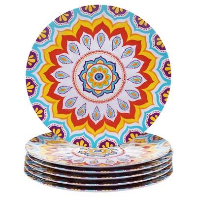 Certified International Akela 11in Melamine Dinner Plate - Set of 6