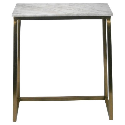 Marble & Gold Rectangular Console Table - Threshold™