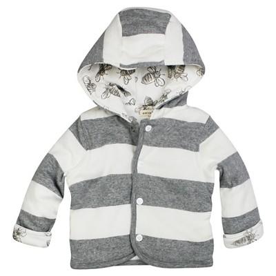 Burt's Bees Baby™ Boys' Organic Hooded Reversible Jacket - Grey Bee 12M