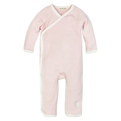Burt's Bees Baby™ Girls' Organic Long-sleeve Quilted Kimono Coverall - Blossom 0-3M