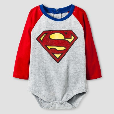 Superman Baby Boys' Long-sleeve Bodysuit 0-3M