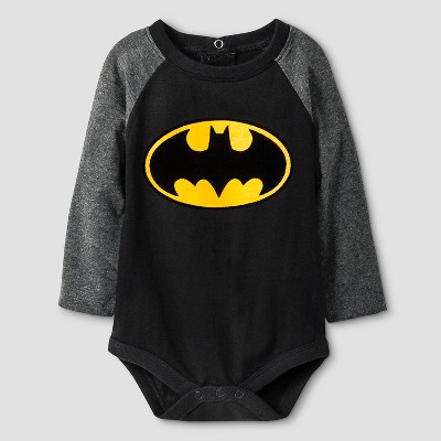 Batman Baby Boys' Long-sleeve Bodysuit 0-3M