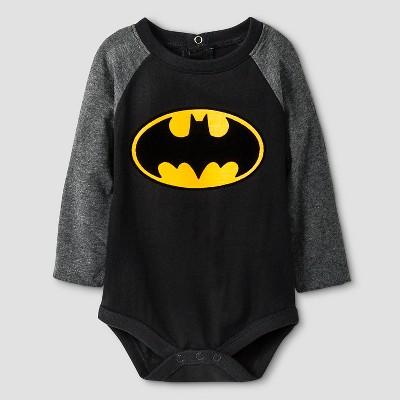 Batman Baby Boys' Long-sleeve Bodysuit 0-3M