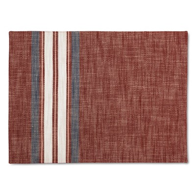 Yarn Dye Stripe Placemat Red - Threshold™