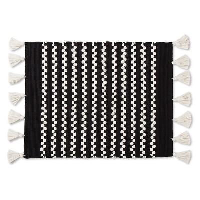 Chunky Tassel Placemat Black - Threshold™