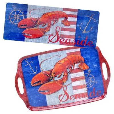 Certified International Maritime Melamine Lobster 2-pc. Platter Set