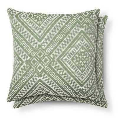 Global Throw Pillow Green - (2 Pack) - Threshold™