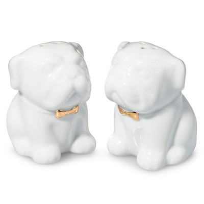 English Dog Salt Or Pepper Shaker Porcelain (Each Sold Separately)  - Threshold™