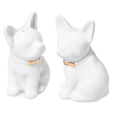 French Dog Salt Or Pepper Shaker Porcelain (Each Sold Separately) - Threshold™