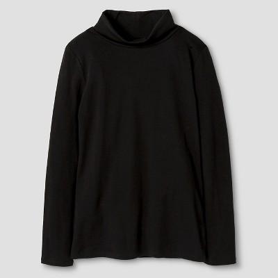 Girls' Turtleneck T-Shirt Cat & Jack™ - Black  XS