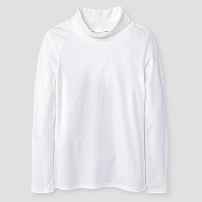 Girls' Turtleneck T-Shirt Cat & Jack™ - White  S