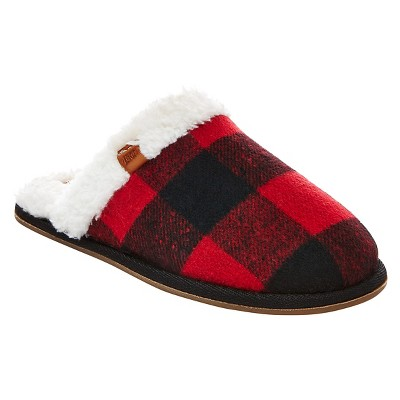 Women's Mad Love® Clara Paid Scuff Slippers - Red M