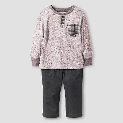 Baby Boys' Top and bottom set - Black Raspberry 12M - Genuine Kids™ from Oshkosh®