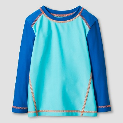 Baby Boys' Long-Sleeve Swim Rash Guard Baby Cat & Jack™ - Blue 18M