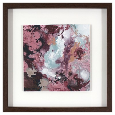 Water Color Framed Wall Art Purple - Threshold™