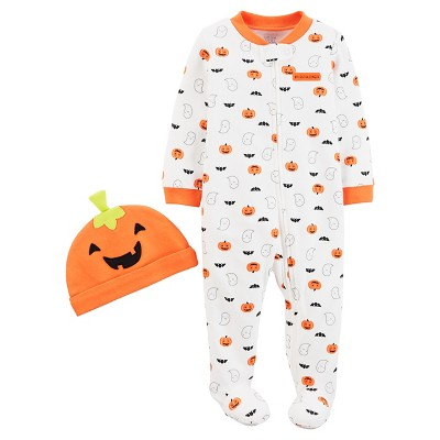 Just One You™Made by Carter's® Baby Pumpkin Sleep N' Play and Hat Set - 9M