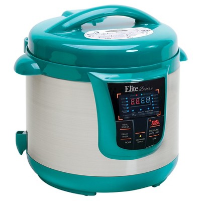 Elite Platinum 8 Qt. Electric Pressure Cooker - Teal