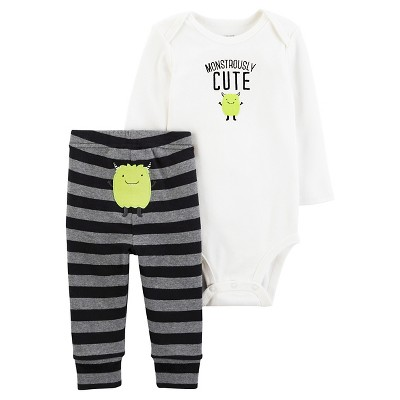 Just One You™Made by Carter's® Baby Boys' Monstrously Cute 2 Piece Pant Set - NB