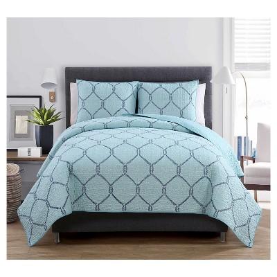 Belmar Quilt Set Full/Queen Light Blue 3 Piece - VCNY®