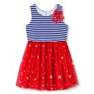 Young Hearts Toddler Girls' Knit Popover with Mesh Skirt - Blue