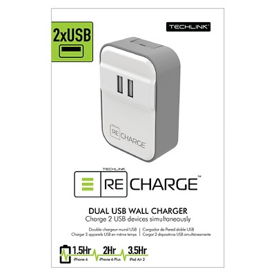 Wall Charger - 2 Port USB White