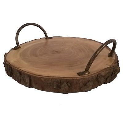 Raw Edge Wood Tray - Threshold™