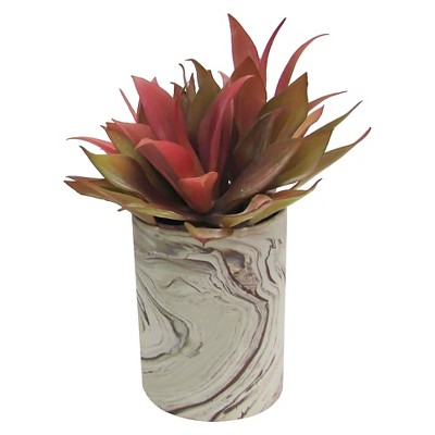 Marble Pot with Purple Artificial Plant - Threshold™