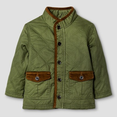 Baby Boys' Twill Button Down Jacket - Leaf Green 12 M - Genuine Kids™ from Oshkosh®