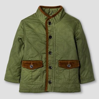 Baby Boys' Twill Button Down Jacket - Leaf Green 12 M - Genuine Kids™ from Oshkosh®