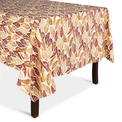"""Leaf Tablecloth Tan - (60""""x104"""") - Threshold™"""