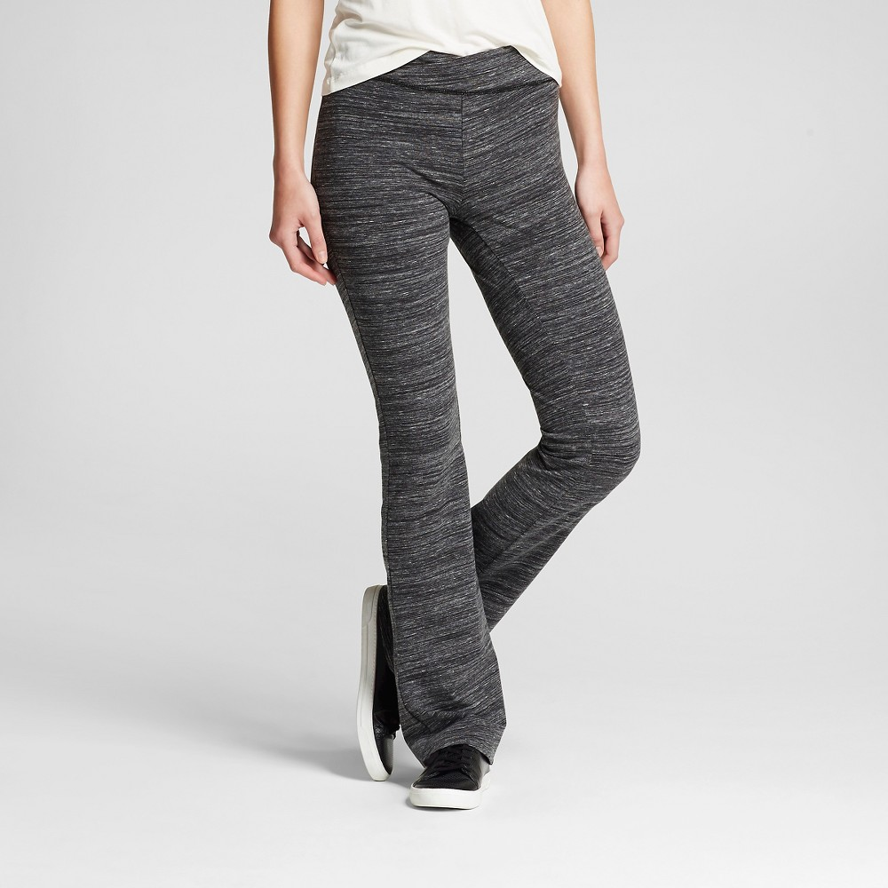 Women's Crisscross Front Bootcut Yoga Pants Charcoal (Grey) L - Mossimo Supply Co. (Juniors'), Size: Large