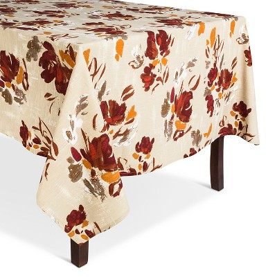 "Floral Tablecloth Red - (60""x84"") - Threshold™"