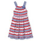 Young Hearts Toddler Girls' Stars and Stripes Knit Dress - White
