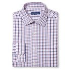 Men's Classic Fit Non-Iron Check Dress Shirt Blue/Red - Mercer Street Studio 16 / 36-37