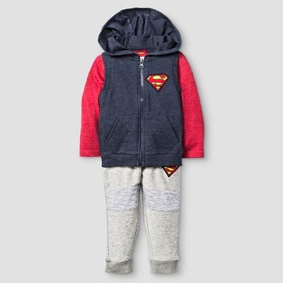 Baby Boys' Superman® 3-Piece Vest, T-Shirt, and Sweatpant Set - 18 M