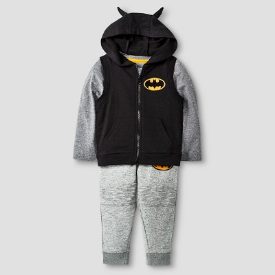 Baby Boys' Batman® 3-Piece Vest, T-Shirt, and Sweatpant Set - 12 M